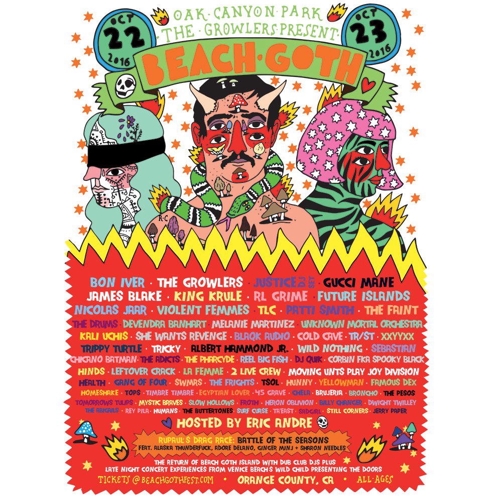 The Growlers Beach Goth Festival Poster